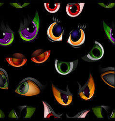 Cartoon eyes beast devil monster animals vector