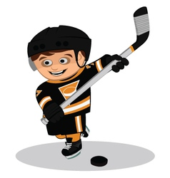 Cartoon ice hockey player vector image
