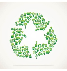 creative recycle symbol vector image vector image