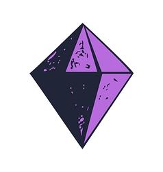 Diamond shape icon isolated abstract vector