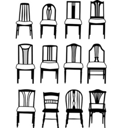 dining chairs vector image vector image