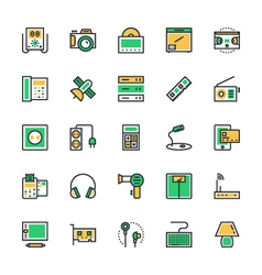 Electronics icons 4 vector