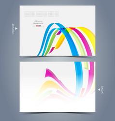 Elegant visit card template design vector image vector image