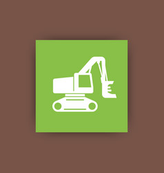 forest harvester icon timber harvesting machine vector image vector image