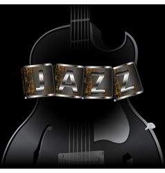 guitar with the words jazz vector image vector image