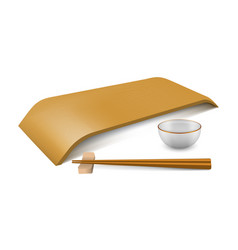 japanese empty dish vector image vector image