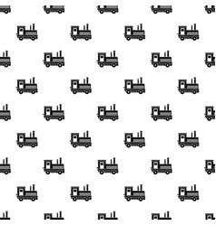 locomotive pattern vector image vector image