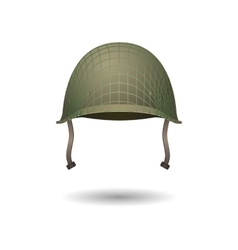 Military classical helmet design with projection vector image