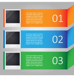 Modern infographic with images vector image vector image