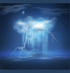 night sea landscape with storm vector image vector image