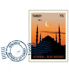 Postmark from istanbul vector