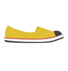 stylish female slipper of bright yellow color with vector image vector image
