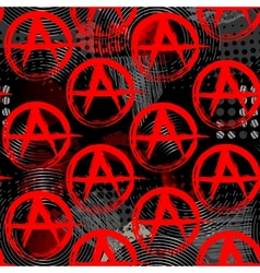 Symbols of anarchy punk pattern vector