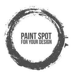 textured circle brush stroke for your design vector image vector image
