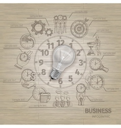 Time Managements Sketch vector image vector image