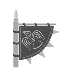 Viking s flag icon in monochrome style isolated on vector