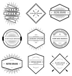 Vintage Brand Badges Collection vector image