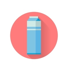 Milk blue carton package isolated vector