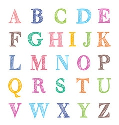 abc marker set vector image