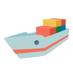 Ship icon cartoon style vector