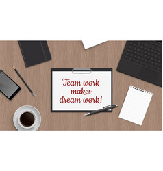Quote team work vector