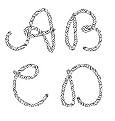 Ropes lettering vector image