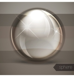 Glass glossy sphere vector
