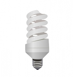Eco lamp vector