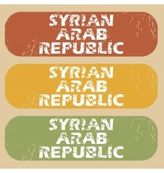 Vintage syrian arab republic stamps vector