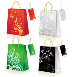Set of shopping bag vector