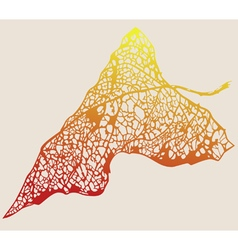 Autumn leaf tracery vector