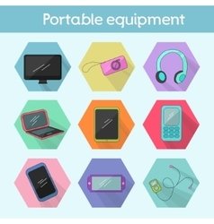 Gadget modern flat icon color vector