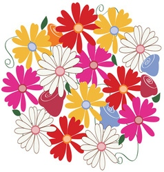 Flower patch vector
