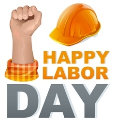 Happy labor day template greeting card vector