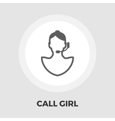 Call girl flat icon vector