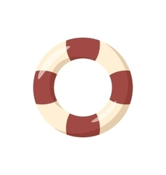 Striped lifebuoy icon cartoon style vector