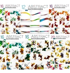 Mega collection of abstract backgrounds vector