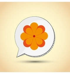 Flower  garden icon colorfull vector