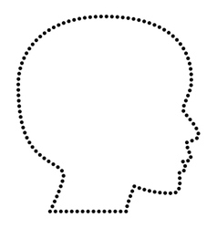 People head sign vector