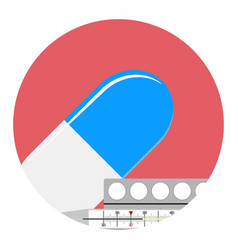 antipyretics medication icon vector image