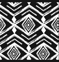 Black tribal navajo seamless pattern with vector