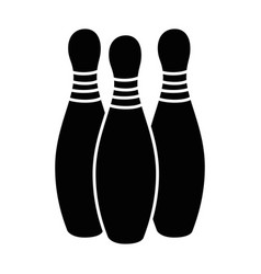 bowling pines sport icon vector image vector image