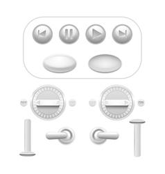 Button set white vector