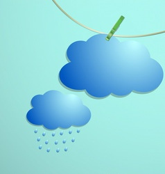 Cloud and rain drops icon hang on string vector image