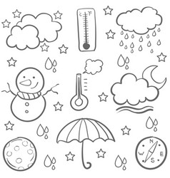 Doodle of weather design art vector