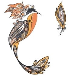 Ethnic ornament bird vector