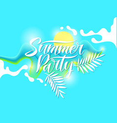 fashion poster summer party in abstract style vector image