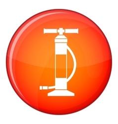 Hand air pump icon flat style vector