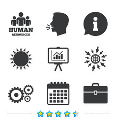 Human resources and business presentation board vector