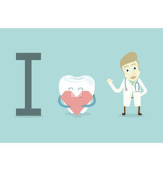 I love dentist vector image vector image
